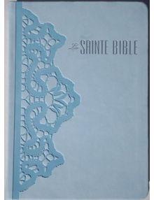 Bible Louis Segond souple similicuir Bleu dragée Dentelles Esa 773