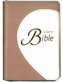 Bible Compacte Segond 1910 Couverture souple duo tranches dorées avec fermeture éclair et ruban CLCB170