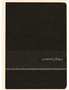 Bible Louis Segond 1910 Gros caractères noir tranche dorée Ref SB1064