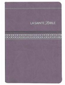 Bible Louis Segond 1910 Gros caractères tranche argentée Parme Ref SB1063