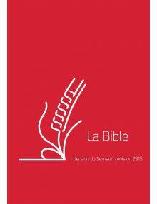 Bible du Semeur 2015, rouge couverture lin