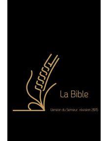 Bible semeur luxe 2015 - cuir de vachette noir - tranche dorée