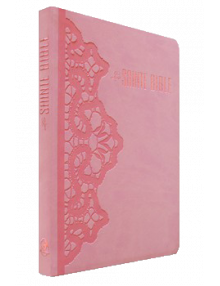 Bible Louis Segond 1910 rose clair Dentelle Ref Esa872
