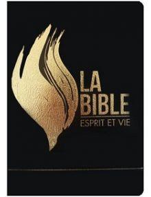 Bible Esprit et vie vinyl noir tranche or