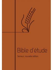 Bible d'étude Semeur 2018 marron souple