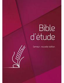 Bible d'étude Semeur 2018 grenat rigide