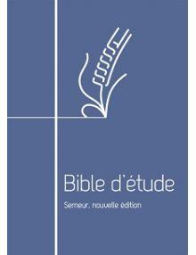 Bible d'étude Semeur souple marine avec zip