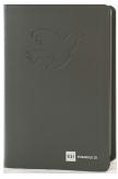 Bible interfoliée cuir gris, tranche argent avec étui