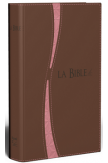 Bible segond 21 duo brun/saumon fermeture éclair tranche or - SG12298