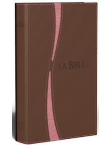 Bible segond 21 souple brun/saumon fermeture éclair tranche or - SG12268