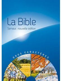 La Bible Version Semeur 2015 avec gros caractères, relié Bleu.