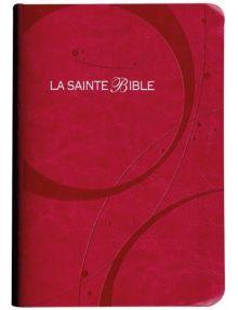 Bible Louis Segond 1910 similicuir rose tranche argent SB1067