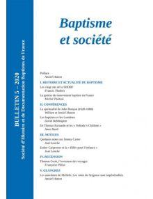 Baptisme et société, bulletin numéro 5