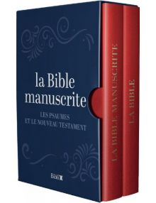 La Bible manuscrite - Coffret de deux volumes rigides
