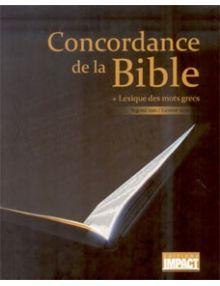 Concordance de la Bible et lexique des mots grecs Segond 1910/Genève 1979
