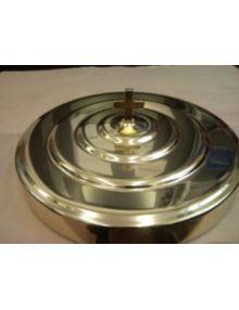 Couvercle en aluminium doré pour plateau (service sainte Cène)