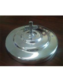 Couvercle en aluminium pour assiette (service sainte Cène)