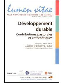 Développement durable - contributions pastorales et catéchétiques
