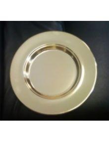 Assiette en aluminium dorée (service de sainte Cène)