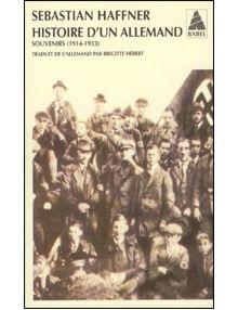 Histoire d'un allemand. Souvenirs (1914-1933)