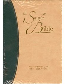 La Sainte Bible (commentaires de John MacArthur) NEG17444