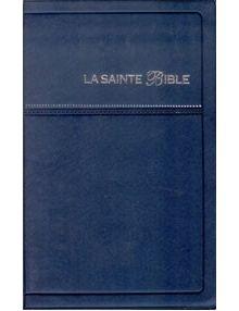 Bible Louis Segond 1910 bleu tranche argent SB1022