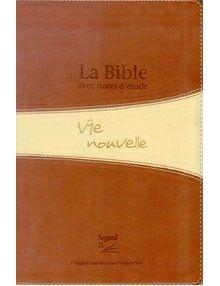 Bible Segond 21 d'étude Vie Nouvelle duo brun, tranche or, avec boitier ref.16445