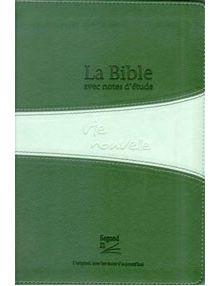Bible Segond 21 d'étude Vie Nouvelle verte souple tr. argent ref 16448