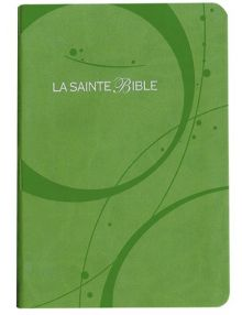 Bible Louis Segond 1910 similicuir vert tranche argent Ref 1060